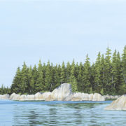 ocean has shaped the rock